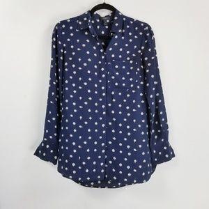 J.Crew longsleeve button down blouse size 0 blue